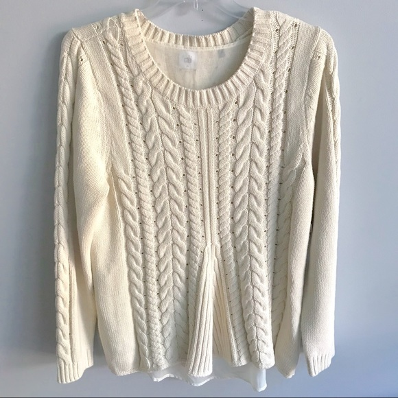 0b2c9ebd71 CAbi Sweaters - Cabi  3157 Size Lace -Up Sweater